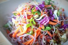Recipe: Sweet Potato, Red Cabbage and Kelp Noodle Bowl with Rich Miso Dressing #vegan