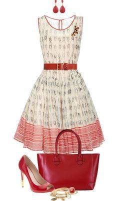 Celine Luggage Phantom Handbag in Vermilion Fashionista Trends, 1950s Fashion, Love Fashion, Girl Fashion, Fashion Beauty, Retro Outfits, Vintage Outfits, Dress Outfits, Fashion Dresses