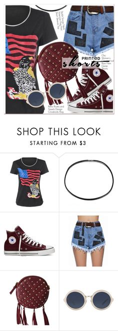 """""""Prints Charming: A Shorts Story"""" by paculi ❤ liked on Polyvore featuring Converse, 3.1 Phillip Lim and printedshorts"""