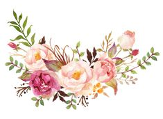 Watercolor print peonies bouquet wreath by artprintbeauty on Etsy Wreath Watercolor, Watercolor Print, Watercolour Painting, Watercolor Flowers, Drawing Flowers, Flower Wreath Illustration, Illustration Blume, Flower Frame, Flower Art