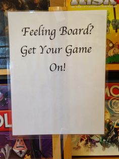 via Fresh Press / board game display at The Book Bin