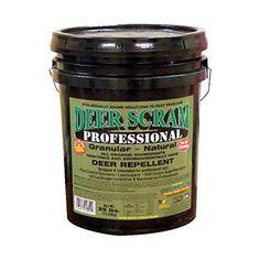 Deer Scram Professional Grade 25lbs. Granular Deer Repellent Industry Leader