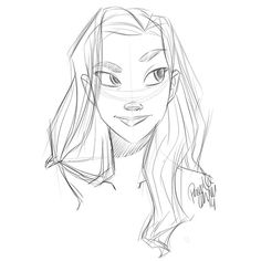 Instagram media by pernilleoerum - So so busy and still no time to do my own finished pieces. So I'm posting another morning #doodle. #sketch #drawing #girlsinanimation #girl
