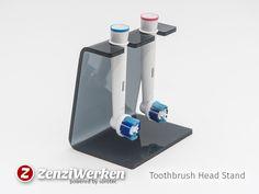 ZenziWerken | Halter für 2 Zahnbürstenköpfe aus Plexiglas
