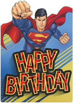 Superman Flying Die Cut Foil Superhero Paper House Birthday Card For Kids Happy B Day Cards, Happy B Day Images, Happy Birthday Wishes Cards, Birthday Blessings, Kids Birthday Cards, Superman Happy Birthday, Happy 2nd Birthday, Birthday Quotes For Her, Birthday Songs