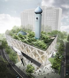 11 Desain inspiratif masjid modern kontemporer bagian 2 ~ Teknologi Konstruksi Arsitektur