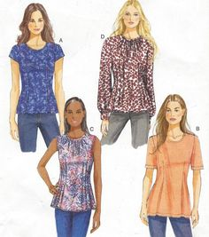 Womens Top or Blouse Sleeve & Neckline Variations by CloesCloset