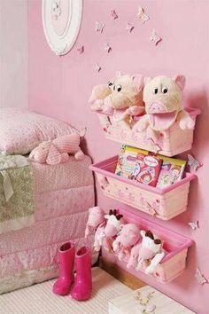 """Possibly this can be the treatment to their ridiculous anxiety with """"the beast under their bed."""" With storage space carts for playthings, ask your children to arrange their playthings– either by dimension Creative Toy Storage Tips for Kids Creative Toy Storage, Storage Ideas, Wall Storage, Bedside Storage, Book Storage, Storage Bins, Bedroom Storage, Extra Storage, Ideas Para Organizar"""