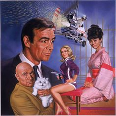Description: This painting, one of a series of six, commemorates the classic James Bond film series starring Sean Connery for an Heirloom Collector plate.  They were marketed worldwide by the Franklin Mint.<br><br>Year Created: 1994