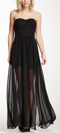Add diy <3 <3 www.customweddingprintables.com ... Strapless Embroidered Maxi Dress