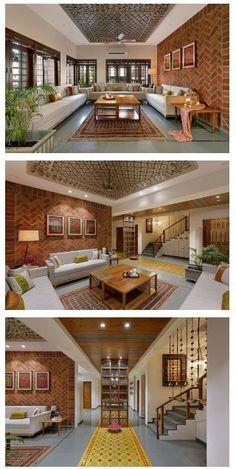 living room interior-living decor-living room decor in 2020 Indian Home Design, Kerala House Design, Bungalow Haus Design, Duplex House Design, Modern House Design, House Design Pictures, Design Living Room, Home Room Design, Home Interior Design