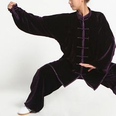47.44$  Buy now - http://ali3x4.worldwells.pw/go.php?t=32787027403 - Hot Sale Thicken Pleuche Kung Fu Wushu Clothing Adults Martial Arts Uniform Autumn Winter Warm Thermal Tai Chi Costume