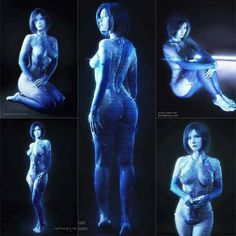 Cortana from Halo Cosplayer: Jannet Incosplay