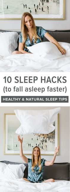 These 10 sleep hacks and tips will have you sleeping better, falling asleep fast and most importantly, staying asleep! They're the perfect healthy and natural fix for insomnia and when you can't sleep. Sleep Better Tips, How To Sleep Faster, How To Get Sleep, Good Sleep, Can't Sleep, Sleep Help, Natural Remedies For Insomnia, Insomnia Remedies, Cant Sleep Remedies