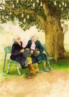 Aunties by Inge Look illustrations. My Paisley World. http://mypaisleyworld.blogspot.com/