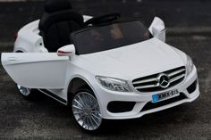 Mercedes Benz Style Ride On Car 12V with Remote Control | White