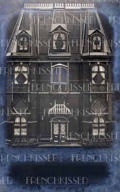 DIGITAL download Haunted Mansion HALLOWEEN Party Invitation Antique French postcard scan Customizable by FrenchKissed for $3.49