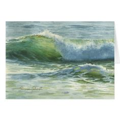 Watercolor Wave-4A Card