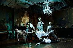 English National Ballet Vivienne Westwood Campaign  Like Humans, But More Graceful, featuring (left to right), Jennie Harrington, Sayako Tomiyoshi, Daniel Kraus, Stina Quagebeur, Ksenia Ovsyanick and Laurent Liotardo