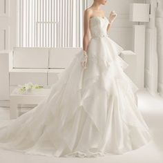 Buy YACCA Strapless Frilled Ball Gown Wedding Dress at YesStyle.com! Quality products at remarkable prices. FREE WORLDWIDE SHIPPING on orders over US$ 35.