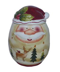@Overstock - Bring holiday cheer to your table with the Santa Claus Christmas CollectionA unique 3-dimensional design that adds a festive twist to serving your favorite recipes and holiday specialtieshttp://www.overstock.com/Home-Garden/Santa-Claus-Large-Hand-painted-Cookie-Jar/2664901/product.html?CID=214117 $26.87