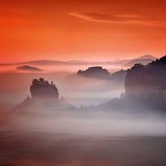 Morning in the Saxon, Switzerland
