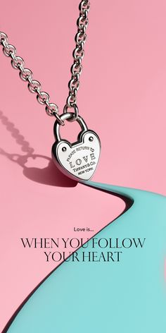Return to Tiffany® Love lock necklace in sterling silver.