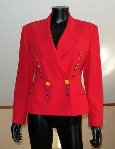 Lolita+Lempicka+veste+courte+cintrée+rouge Lolita Lempicka, Blazer, Blouse, Long Sleeve, Sleeves, Jackets, Tops, Women, Fashion