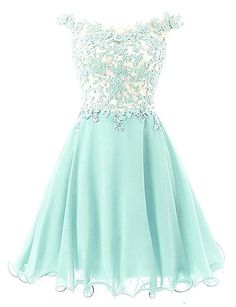 Off-shoulder Applique Mint Green Homecoming Dress with Embellishment