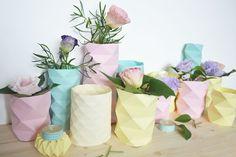 Des Vases Pastel En Origami | Lily's Little Factory - Blog DIY - Bretagne