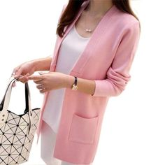 Looking for OLGITUM New Women...? Check it out here on EzDeals.info - http://yourturnkeystore-300.myshopify.com/products/olgitum-new-women-spring-autumn-sweater-2017-long-cardigan-korean-slim-pocket-loose-knit-sweater-outwear-coat-by-ezdeals?utm_campaign=social_autopilot&utm_source=pin&utm_medium=pin