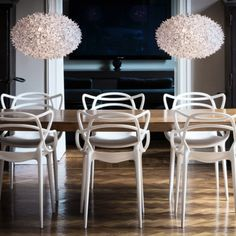 The iconic Kartell Masters chairs, available at Design 55
