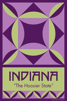 INDIANA quilt block.  Ready to sew. Single 4x6 block $4.95.