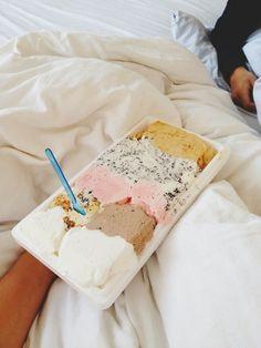 Ice cream in bed <3