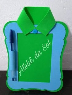 Lembrancinhas dia dos pais - Craft Tutorial and Ideas Foam Crafts, Diy And Crafts, Crafts For Kids, Paper Crafts, Creative Activities For Kids, Green Craft, Father's Day Diy, Dad Day, Fathers Day Crafts
