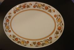 "Franciscan Oval Serving Platter in Pickwick 15"" Tray Fruit & Leaves #Franciscan"