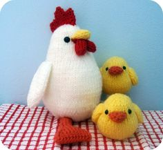 Amigurumi Knit Chicken and Chicks Pattern Set pdf by AmyGaines, $3.00