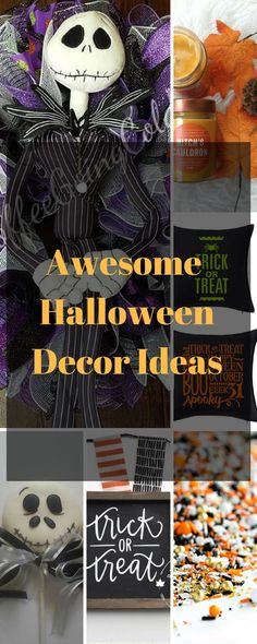 Who doesn't love Halloween? Check out this post for some awesome Halloween Ideas to get you in the Spirit! Spooky wreaths, Fall scented candles and more,
