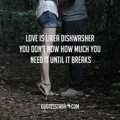 Quote love is like a dishwasher