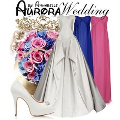 Aurora - Wedding by annabelle-95 on Polyvore featuring Zac Posen, True Decadence, Forever New, GUESS and Ippolita