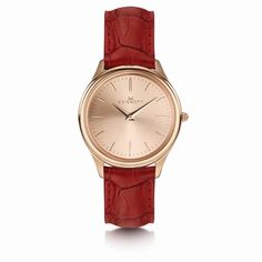Kensington Lady Rose Gold Red | Kennett Watches | Wolf & Badger