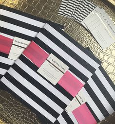 Blogger business/media kits and darling black and white business cards