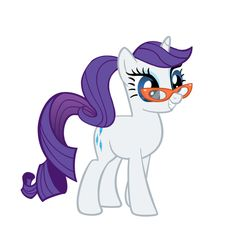 Rarity with a ponytail by ~Rarity6195 on deviantART