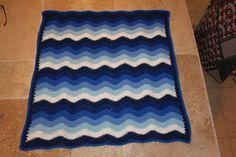 Handmade crochet ripple blanket