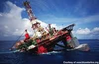 Off shore drilling gone wrong.