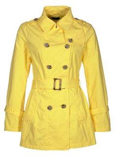 Benetton Trench Coat Yellow