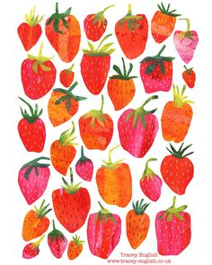 Strawberries by Tracey English  www.tracey-English.co.uk