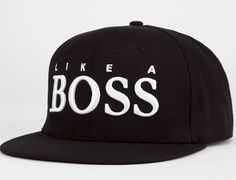 Boss Snapback Hat by REASON