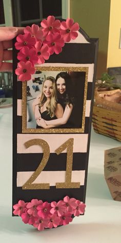 Kate Spade inspired 21st birthday paddle!!!!