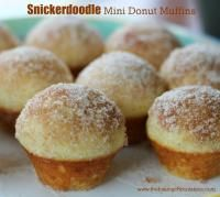 Snickerdoodle Mini Donut Muffins on MyRecipeMagic.com e so soft, tender and moist, and packed with cinnamon and sugar taste.